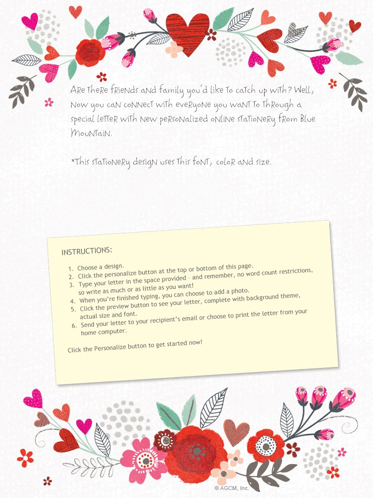 """Blooming Wishes Love Letter"" 