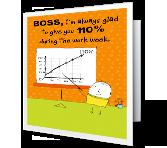 110% printable card