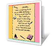 13th Birthday printable card