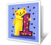 1st Birthday greeting card