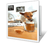 24 Happy Hours greeting card