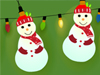 Snowman Lights  -- Free Cute Holiday Interactive, Desktop Wallpapers from American Greetings