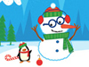 Jolly Snowmen  -- Free Cute Interactive, Desktop Wallpapers from American Greetings