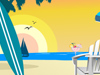 Beach Scene  -- Free Trendy Interactive, Desktop Wallpapers from American Greetings