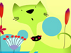 Cat and Mouse  -- Free Pets Interactive Animal, Desktop Wallpapers from American Greetings