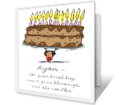 Don't Count the Candles happy birthday printable cards
