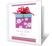 A Wish for My Sister happy birthday printable cards