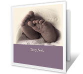 Tiny Feet congratulations on baby printable cards