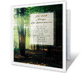 He Will Be Remembered sympathy printable cards