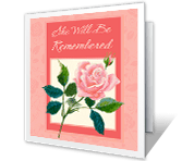 She Will Be Remembered sympathy printable cards
