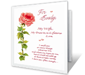 I'm Glad You're My Wife happy anniversary printable cards