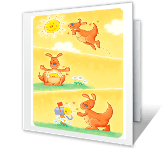 Sending You Sunshine saying hi printable cards