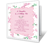 A Daughter is Joy happy birthday printable cards