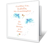 Happy Birthday Printable Cards - God Bless You