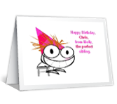 From Perfect Sibling happy birthday printable cards
