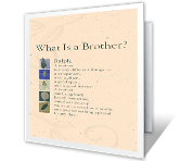 What Is a Brother? happy birthday printable cards