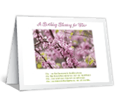 A Birthday Blessing<br> for You happy birthday printable cards