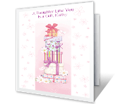 A Daughter Like You happy birthday printable cards