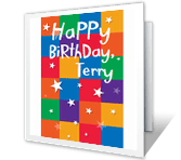 Star Power happy birthday printable cards