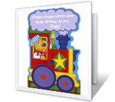 You're on the Right Track happy birthday printable cards