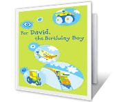 Birthday Boy Fun happy birthday printable cards