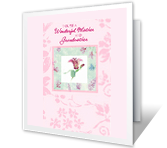 Wonderful Mother and Grandmother happy birthday printable cards
