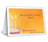 You're Over the Edge? over the hill birthday printable cards
