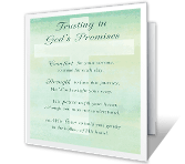 Trusting in God's Promises sympathy printable cards