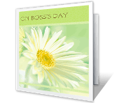 On Boss's Day greeting card