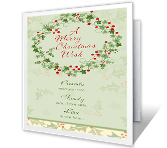 Special Joys<br>of the Season christmas printable cards