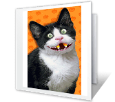 From the Cat halloween printable cards