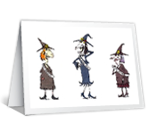 Best Witches printable halloween card