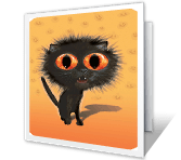 Don't Be a Scaredy-cat printable halloween card