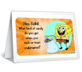 Underwater Treats printable halloween card