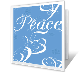 Joy, Love, Peace seasons greetings printable cards