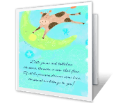 Enjoy Each Beautiful<br>Baby Moment congratulations on baby printable cards