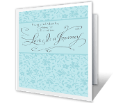 Love Is a Journey wedding printable cards