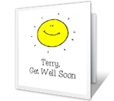 We Miss<br>Your Smiling Face get well printable cards