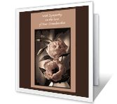 On the Loss of<br>Your Grandmother sympathy printable cards