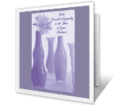 Caring Thoughts on the<br>Loss of Your Husband sympathy printable cards