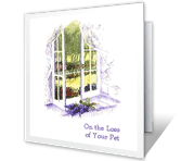 On the Loss of Your Pet sympathy printable cards