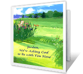 May God Be with You sympathy printable cards