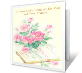 May God Sustain You sympathy printable cards