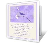 Loss of Child sympathy printable cards