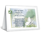 Time Will Bring Peace sympathy printable cards