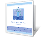 A Wish for Comfort sympathy printable cards