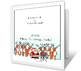 HO-Whole Family!<br>Add-a-Photo christmas printable cards