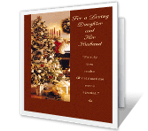 Daughter & Her Husband christmas printable cards