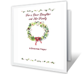 Daughter & Her Family christmas printable cards