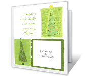 Warm Wishes & Smiles<br>Add-a-Photo christmas printable cards